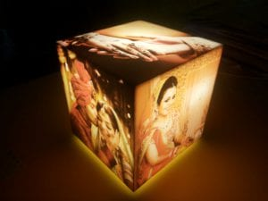 Cubelit personalized Lamp with 5 photos
