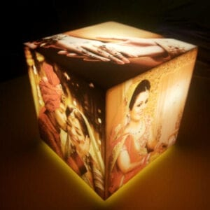 Cubelit personalised Lamp with 5 photos