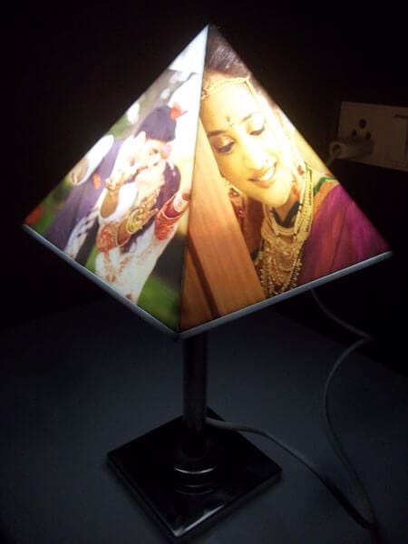 Personalized Pyramid lampshade – Unique gifting idea