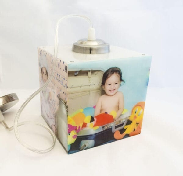 cube Personalized photo lamp