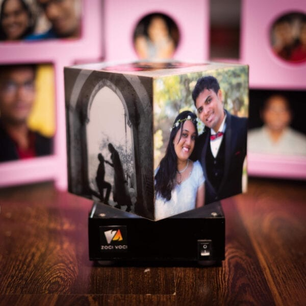 Personalized gift of photo lamp with rotation
