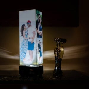 personalized gift with light inside