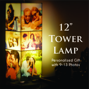 customized gift tower photo lamp