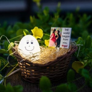 Egg lamp creative gift for mom