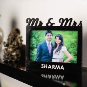 Couple photo frame with light for anniversary gift