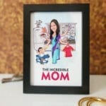 Mother's day caricature photo frame