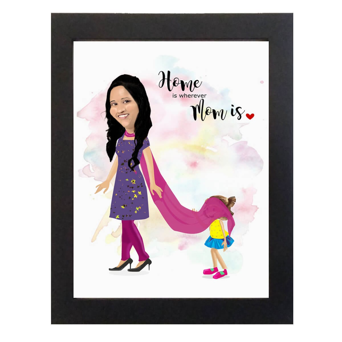 Personalized Mom Caricature picture frame
