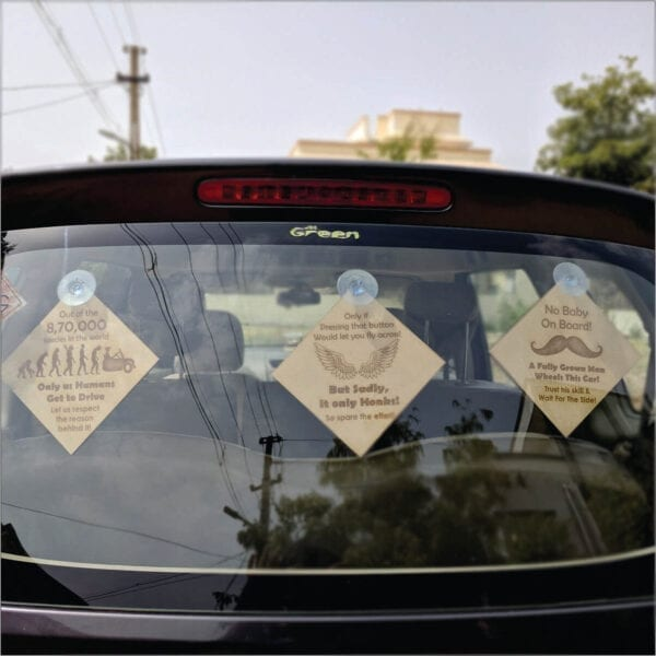 traffic Gyan – Set of 3 creative car accessories.