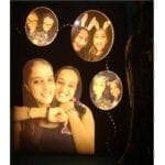 Moments- 4 pictures 3D personalized lamp