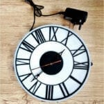 Clock with light integrated