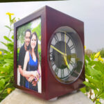 Personalized lamp with music and clock