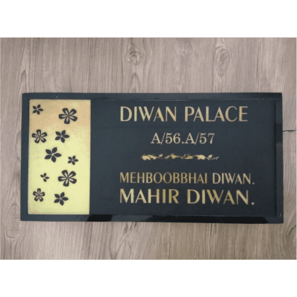 Parichay – Personalized back lit name plate