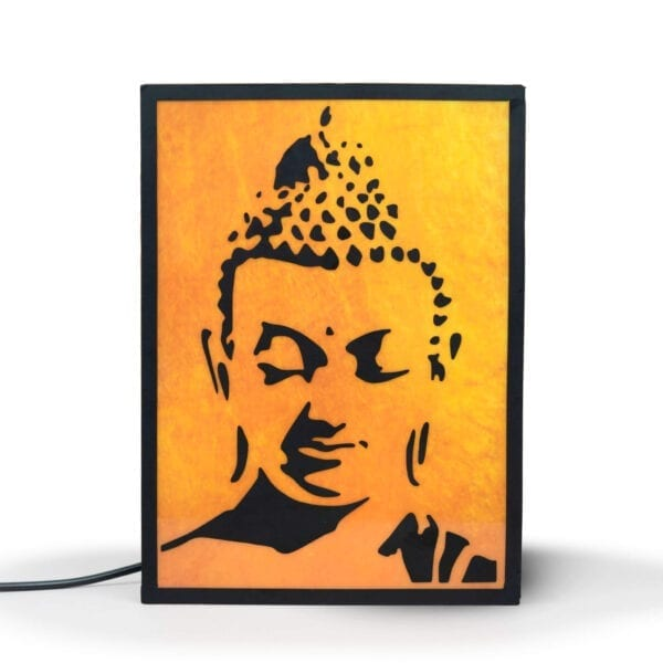 Gautam buddha wall piece with light inside