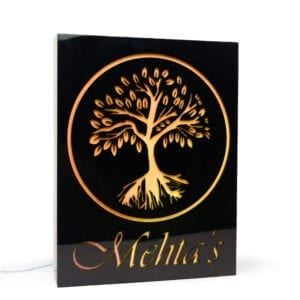 Acrylic Name plate with light inside