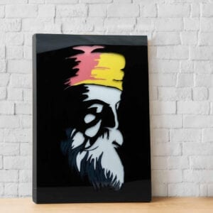 Guru Nanak home decor piece with light inside