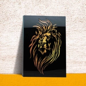 Lion face decorative wall mural