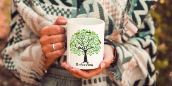 Family tree customized mug