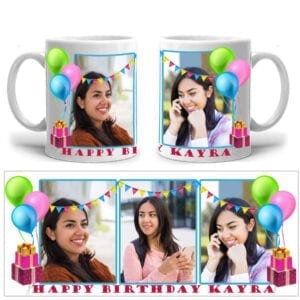 Birthday wishes photo mug