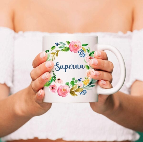 Princess name cup personalized with photo