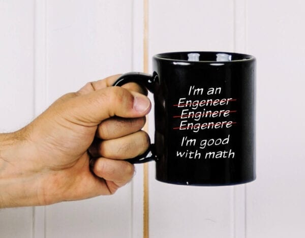 Engineer's math personalized name mug