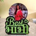 Personalized gift for bhabhi photo frame