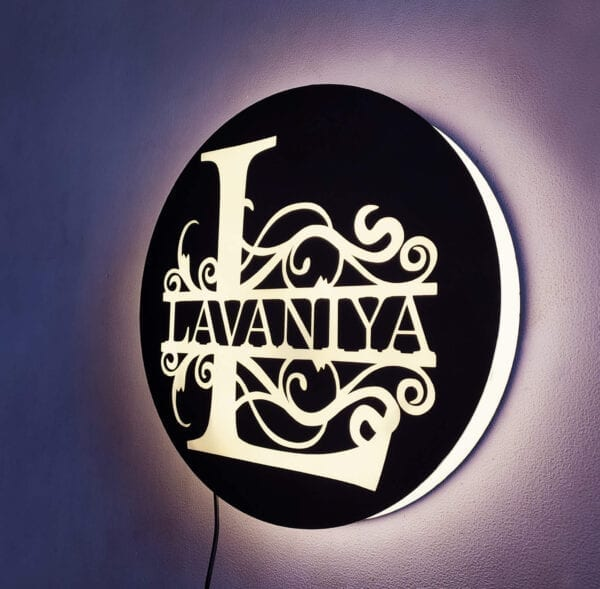 Customized name lamp