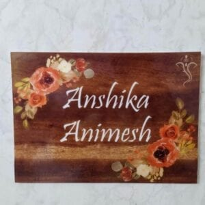 Acrylic printed nameplate online
