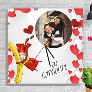 U complete me - Fries & ketchup photo clock