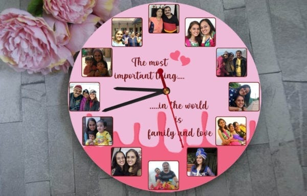 Family time custom wall clock
