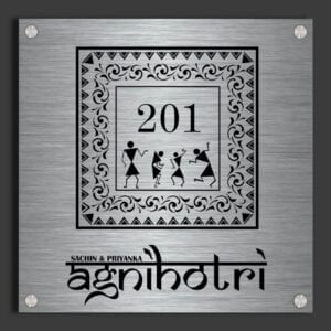 Door name plate - Warli Art Name plate