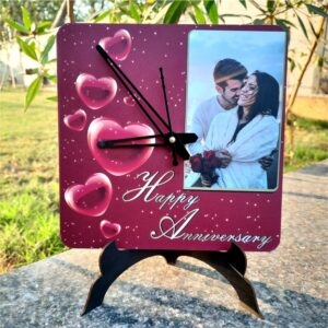 valentines day photo clock