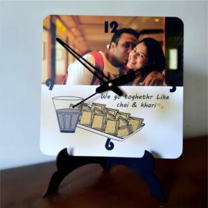 Photo clock couple valentines day gift