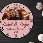 Personalized couple clock