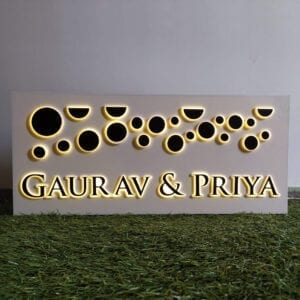 Planets of Gold - Acrylic name plate