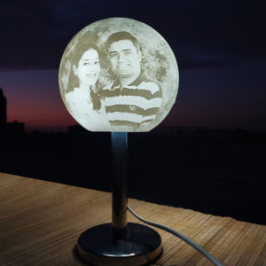 Chandrama - rotating custom moon lamp