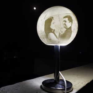 rotating moon lamp