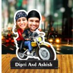Gift for couple caricature personalized standee