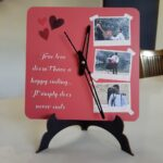 Photo clock for valentines day