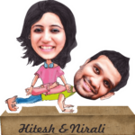 couple caricature gift
