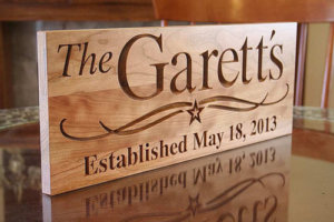 Engraved Wooden Nameplate