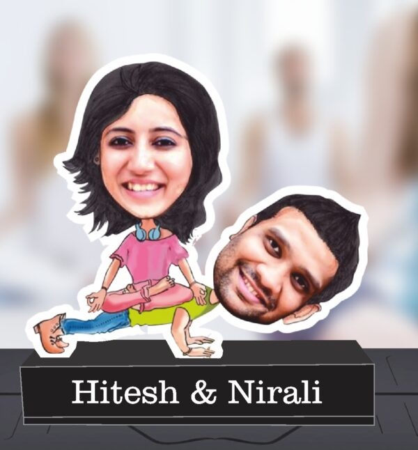 gift for couple caricature standee