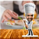 master chef caricature standee