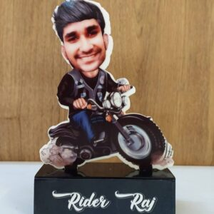 bike rider caricature