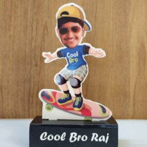 cool bro caricature standee