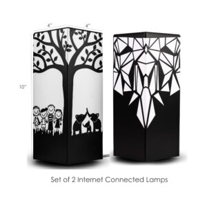 Set of 2 telepathy friendship lamps