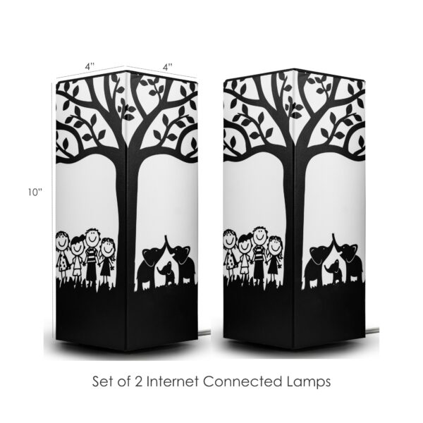 White background Telepathy friendship lamps