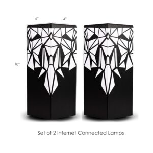 Set of 2 Internet connected friendship lamps