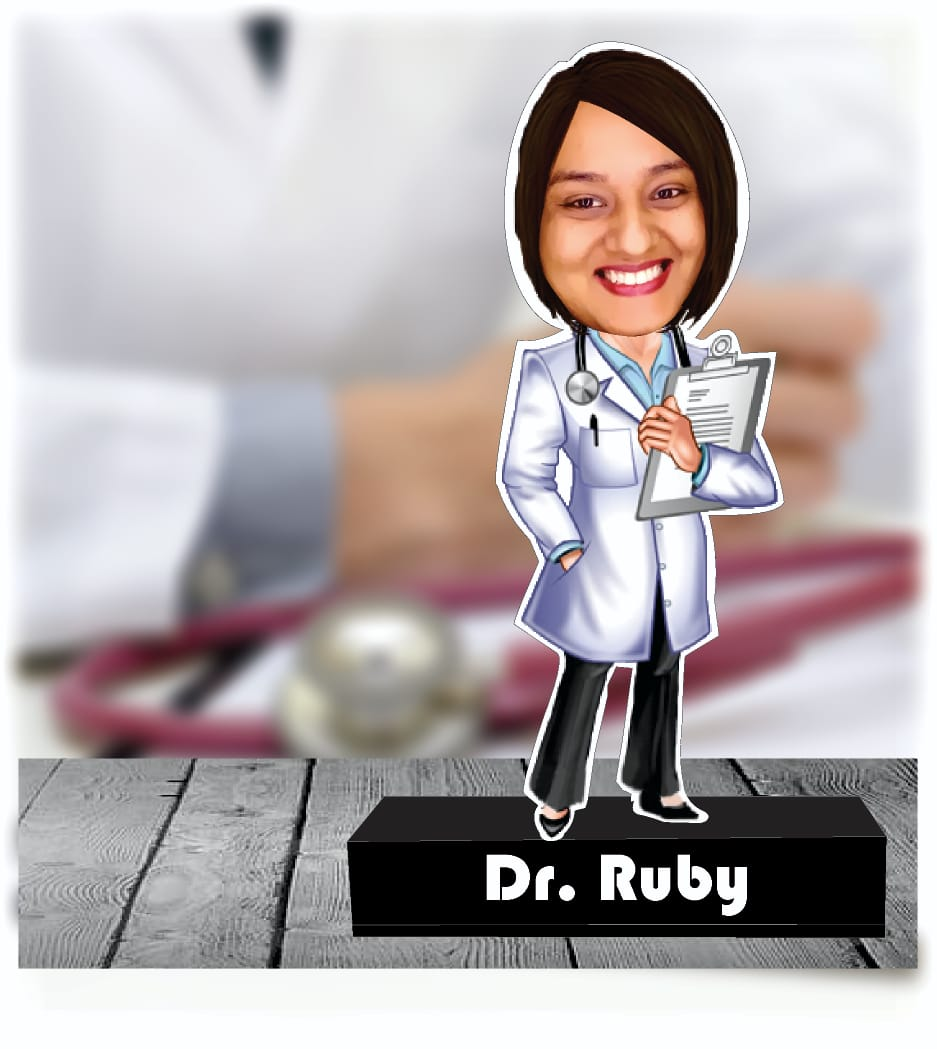 Female doctor personalized gift standee