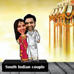 South indian couple standee