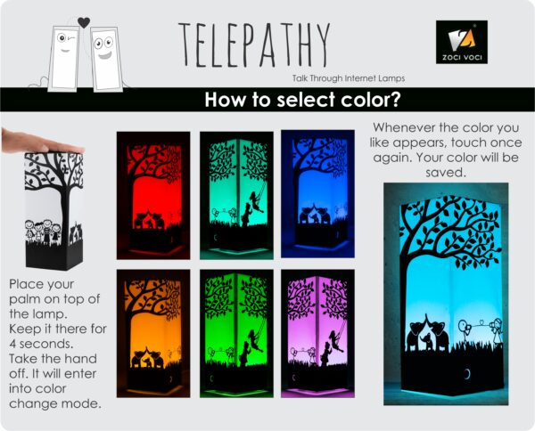 Friendship lamps color change